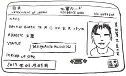 Illustration de l'alien card, la carte d'identité des étrangers dont les pvistes au Japon