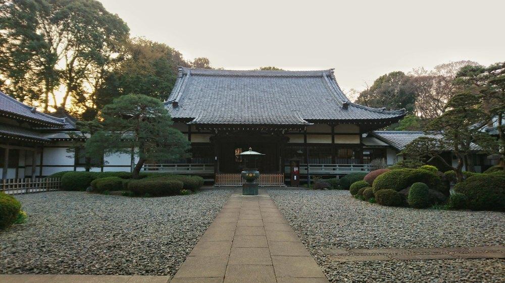 Le temple Shoko-in à Tokyo, Japon.
