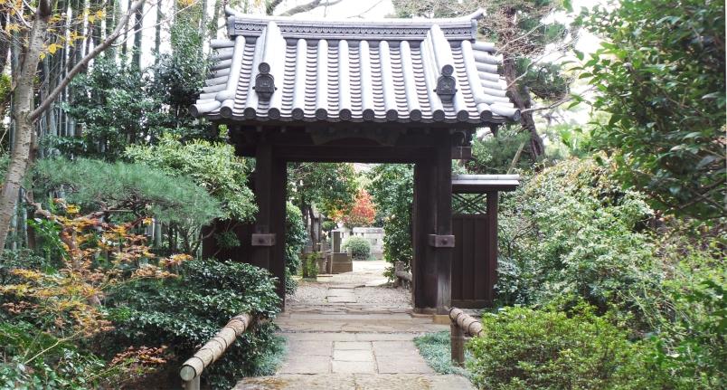 Temple Shinsei ji entrée du cimetière
