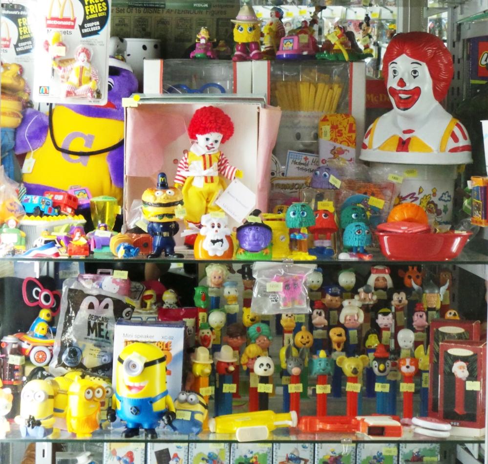 Jouets vintage McDonald's à Nakano Broadway, un centre commercial insolite