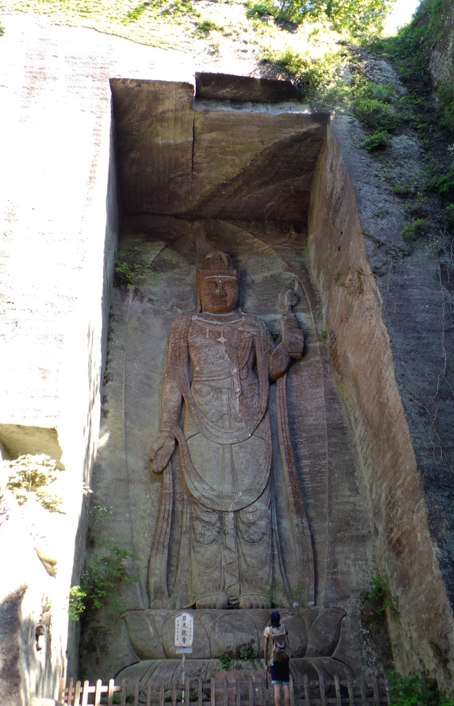 La plus grande statue de pierre du Japon est à Nokogiri près de Tokyo