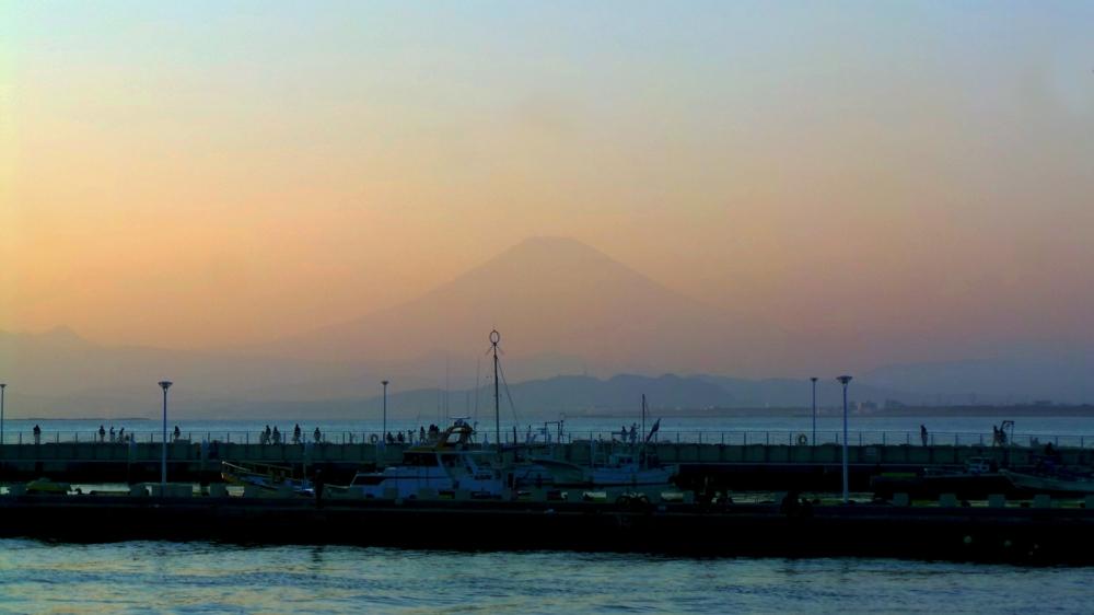 Vue sur le Fuji d'Enoshima