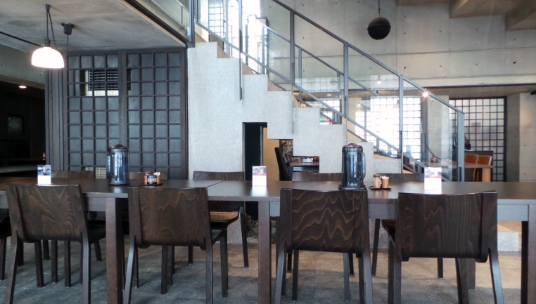 Salle du super restaurant du temple Nanzoin à Fukuoka