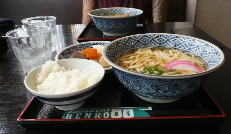 Menu par cher au restaurant du temple Nanzoin à Fukuoka