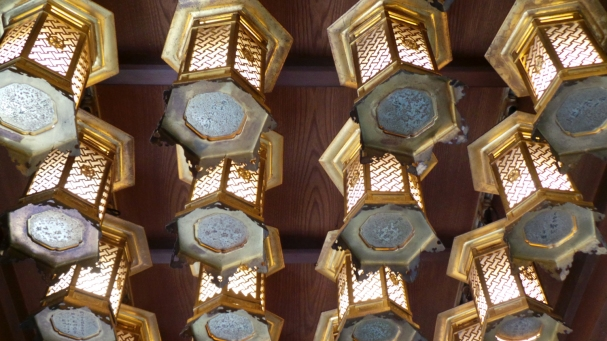 Lanternes du temple Nanzoin à Fukuoka.