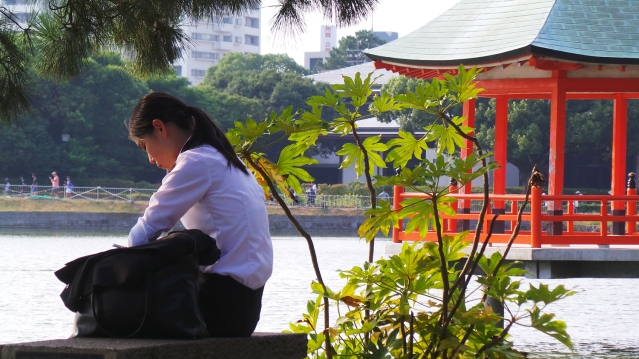 Visite de Fukuoka : parc Ohori à Tenjin