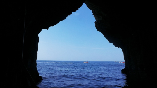 Vue dans les grottes de Nanatsugama