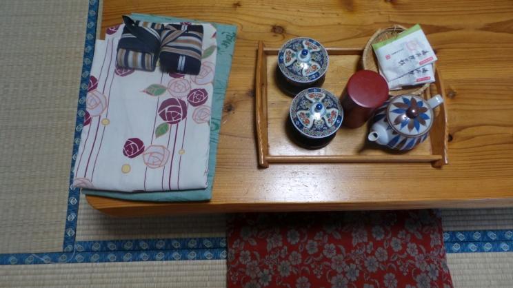 Dans notre ryokan du village de Yonohira près de Yufuin, Kyushu
