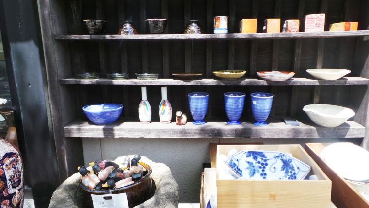 Jolie boutique de poteries, Yufuin, Kyushu