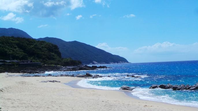 Nagata Inaka, la plage où viennent pondre les tortues sur l'île de Yakushima, Japon.