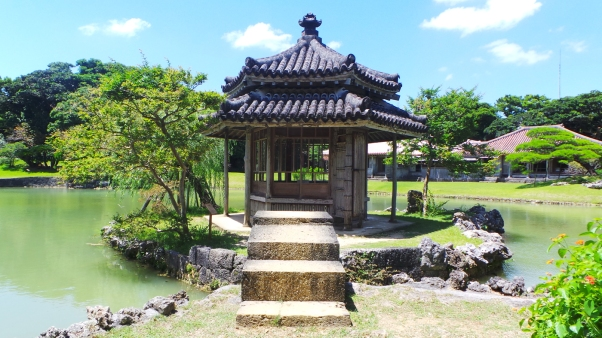Pavillon du jardin royal Shikinaen à Naha, Okinawa
