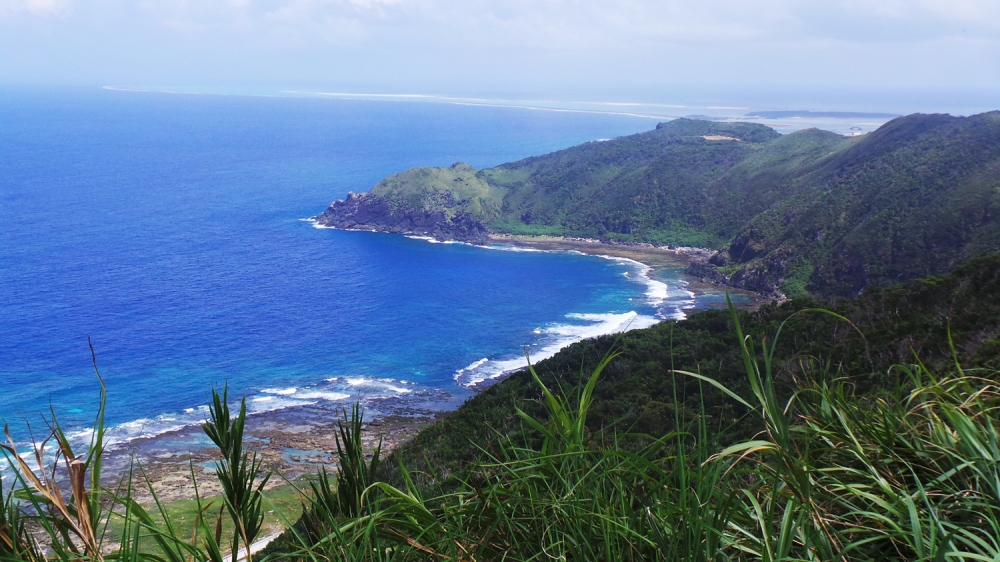 Point de vue Hiyajo Banta sur l'île de Kumejima, Okinawa