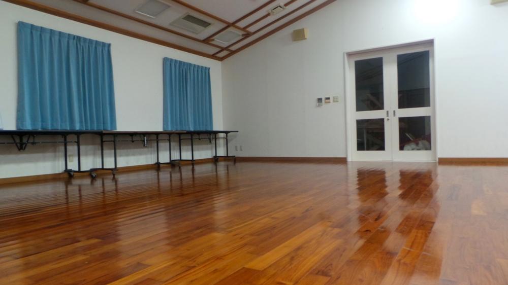 Salle prêtée par le camping Baud Haus sur l'île de Kumejima, Okinawa