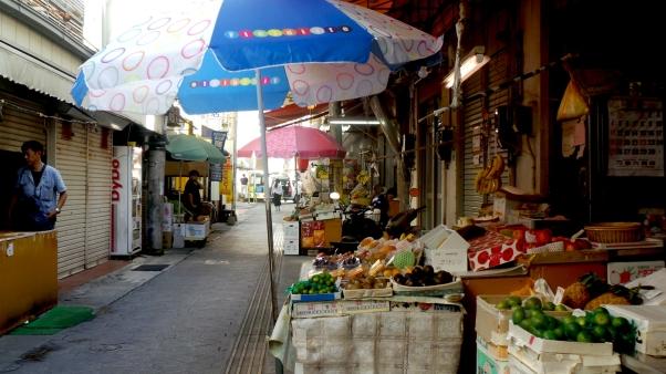 Les arcades ou galeries de Naha, Okinawa