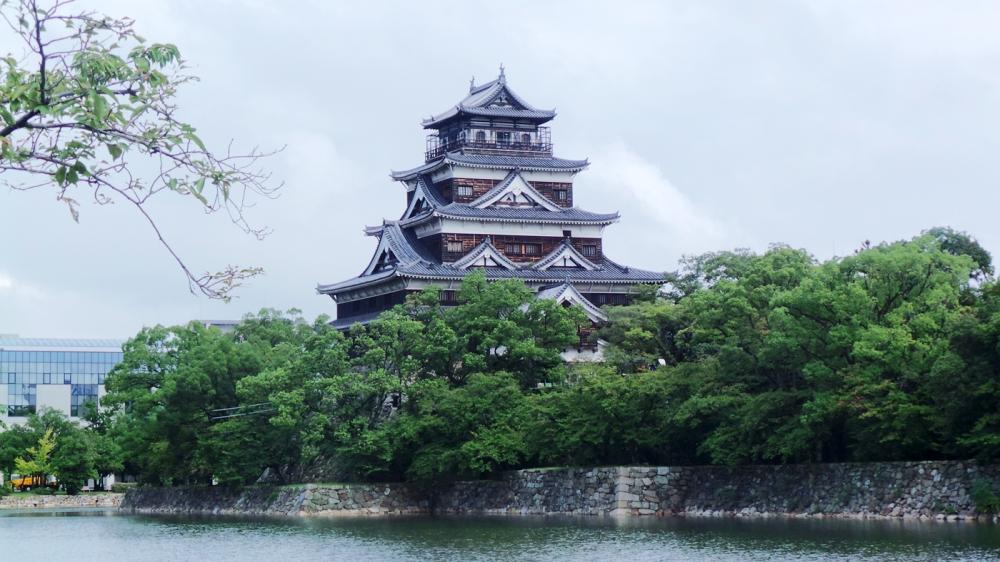 Visiter le château d'Hiroshima, Japon.