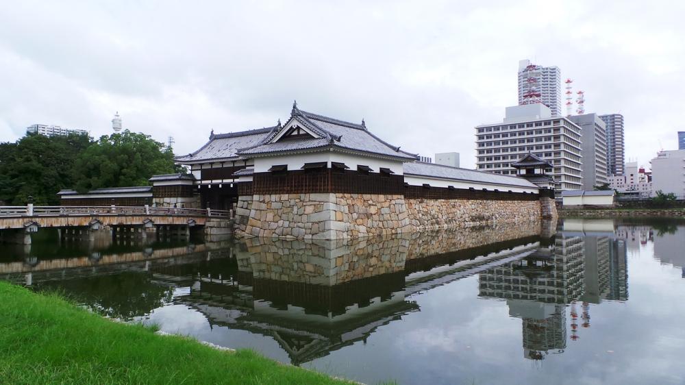 Le parc du château d'Hiroshima, Japon.