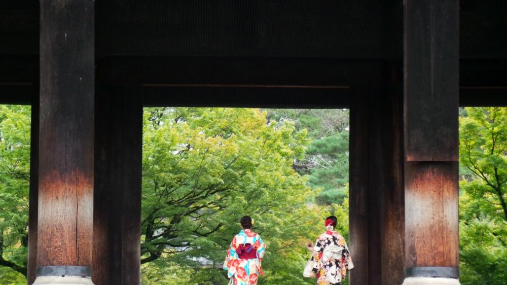 Porte du sanctuaire Nanzen-ji, Kyoto, Japon.