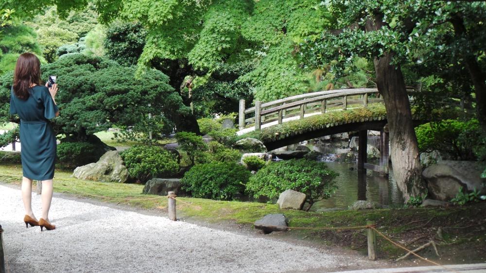 Jardins du Palais impérial, visite gratuite, Kyoto, Japon.
