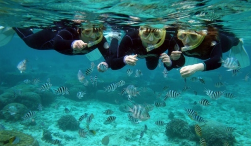 Snorkeling au cape Maeda, Okinawa