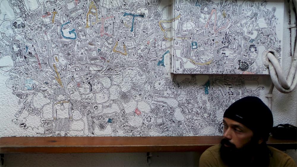 Mi galerie d'art, mi café, Design festa gallery à Harajuku, Tokyo, Japon.
