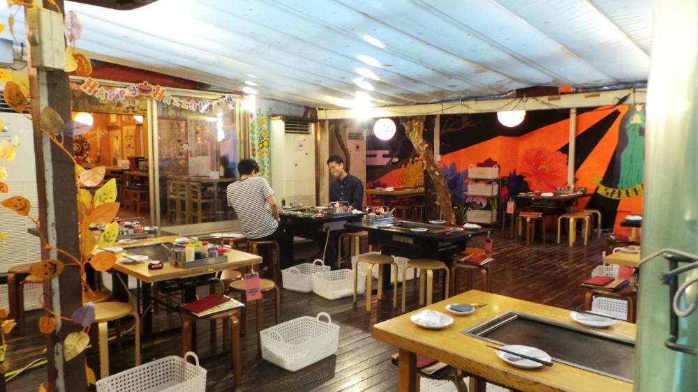 Sakuratei, restaurant d'Okonomiyake conseillé à Harajuku, Tokyo, Japon.