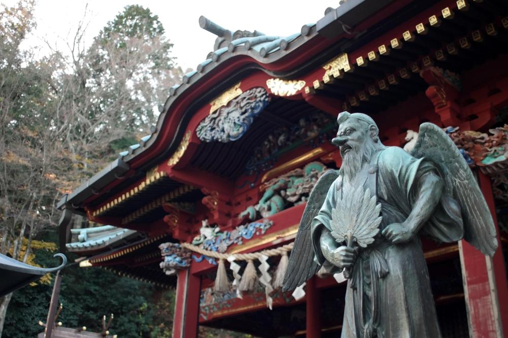 Visite de Yakuoin, le temple du mont Takao, Tokyo, Japon.