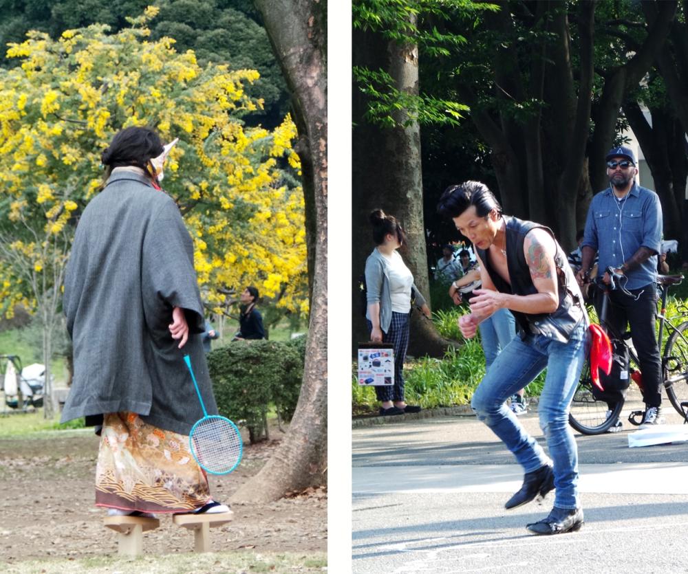 Un dimanche dans le parc Yoyogi à Tokyo, Japon.