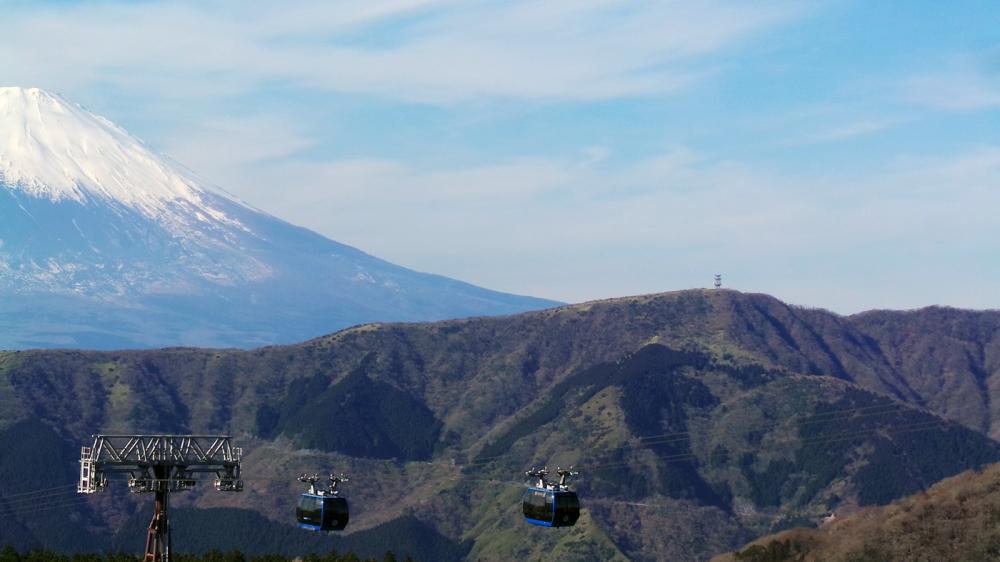 Vu sur le mont Fuji du téléphérique d'Hakone, Japon
