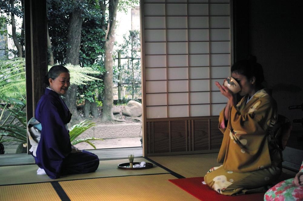 Ma première cérémonie du thé au Japon.