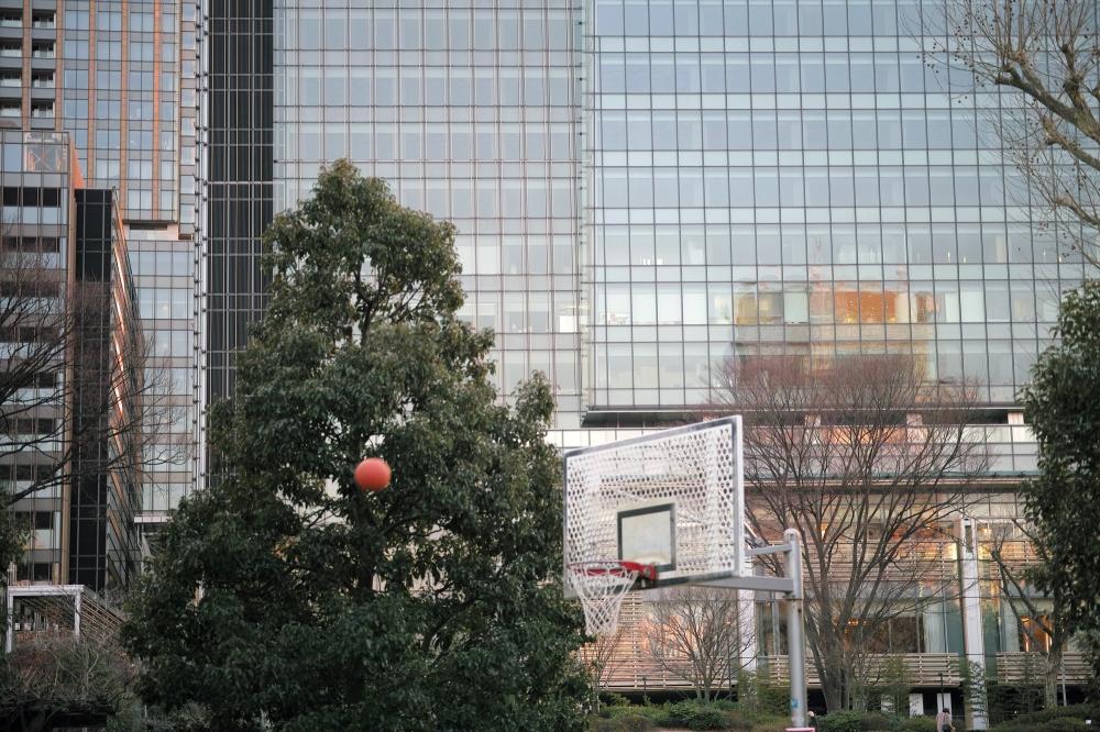 Balade dans le quartier de Roppongi midtown, Tokyo, Japon.