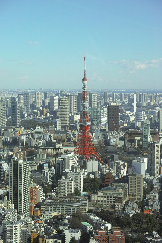 Vue sur la Tokyo Tower de la Tokyo city view à Roppongi, Japon.