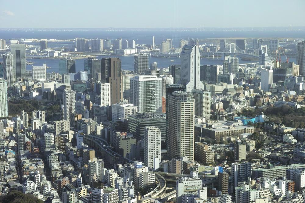 Vue sur Tokyo de la Tokyo city view à Roppongi, Japon.