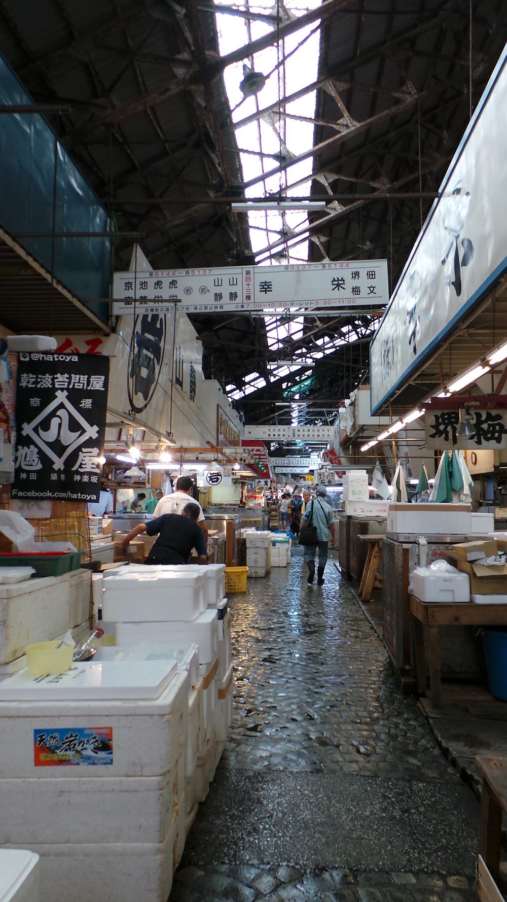 Visiter la halle aux poissons du marché de Tsukiji, Tokyo, Japon.