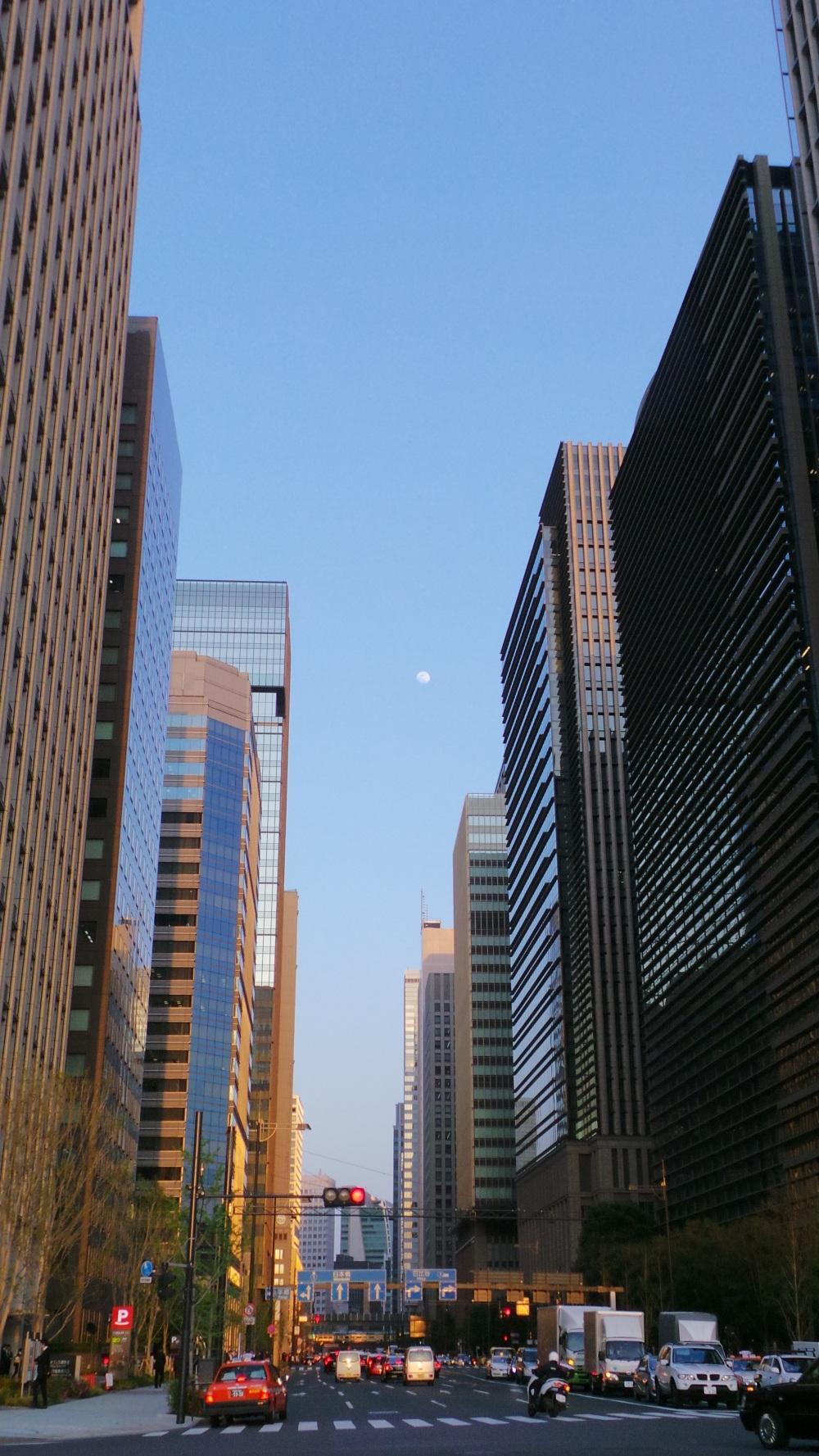 La skyline de Ginza, quartier à voir de Tokyo, Japon.