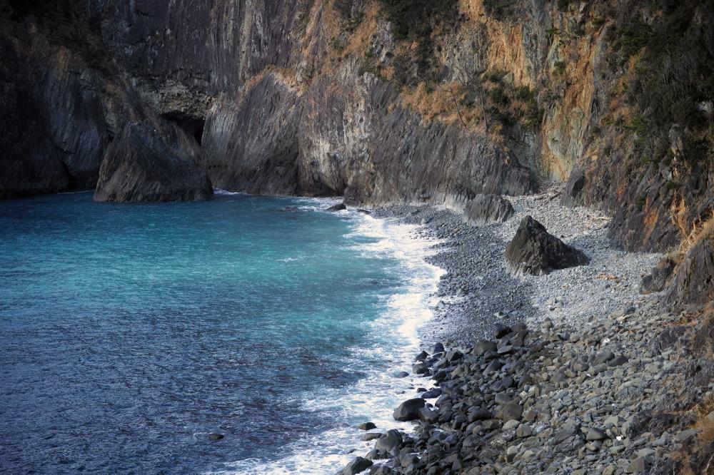 Baie de Kumomi, Matsuzaki dans la préfecture de Shizuoka, Japon