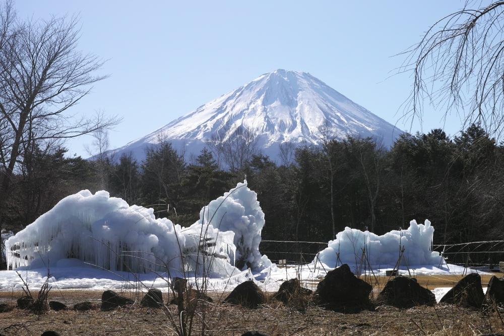 Snow festival dans la région des cinq lacs près du Fuji, Japon