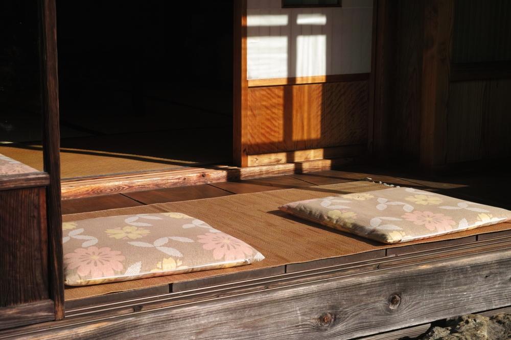 Maison kabuto zukuri traditionnelle japonaise dans les montagnes Shizuoka, Japon.