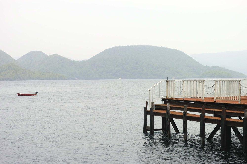Le lac Toya, Hokkaido, Japon.