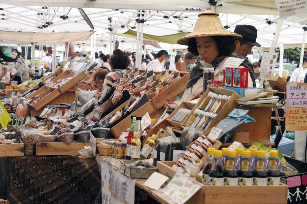 Marché de producteurs à Tokyo