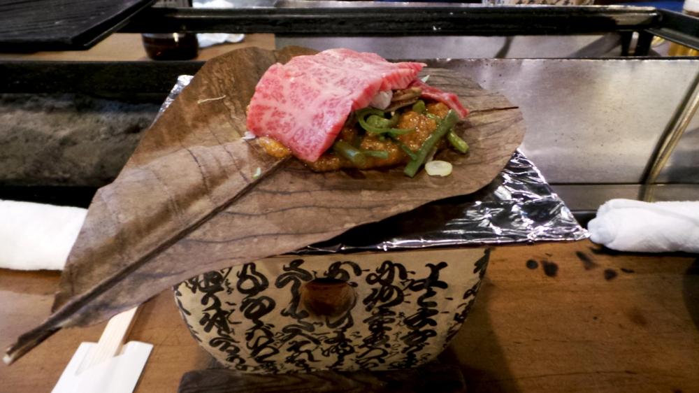 Bonne adresse pour manger du boeuf de Hida à Takayama, Japon.