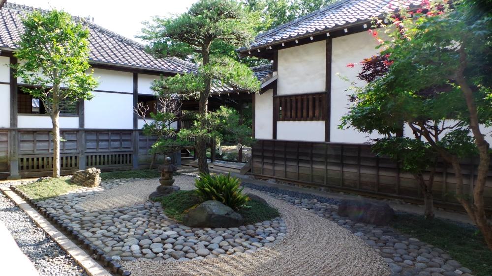 Jardin du palais de Kawagoe, Japon.