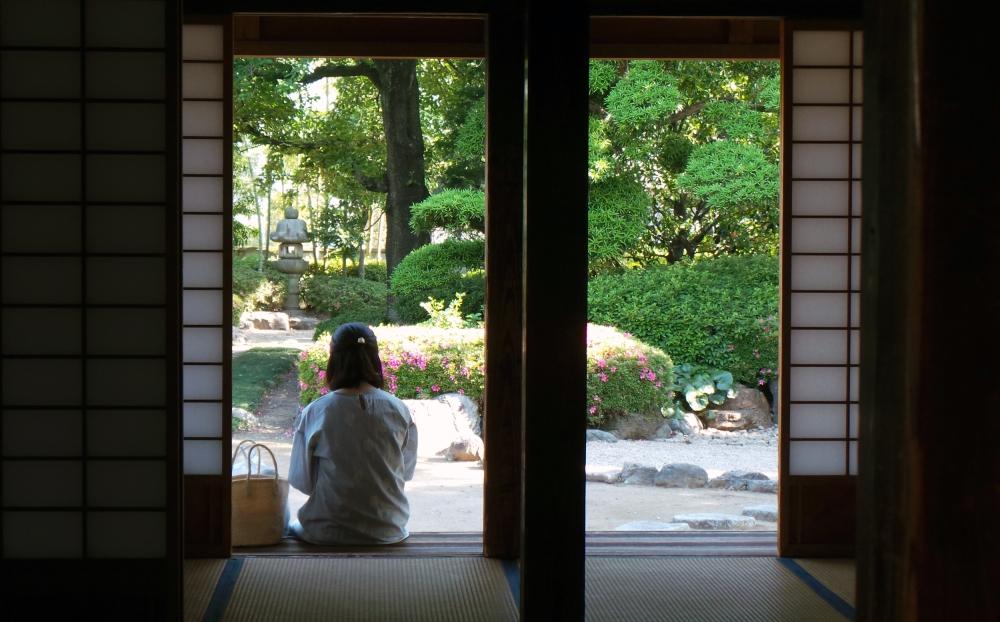 Vue sur le jardin du palais de Kawagoe, Japon.