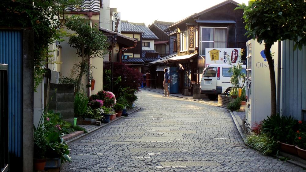 L'allée de bonbons de Kawagoe, près de Tokyo, Japon.