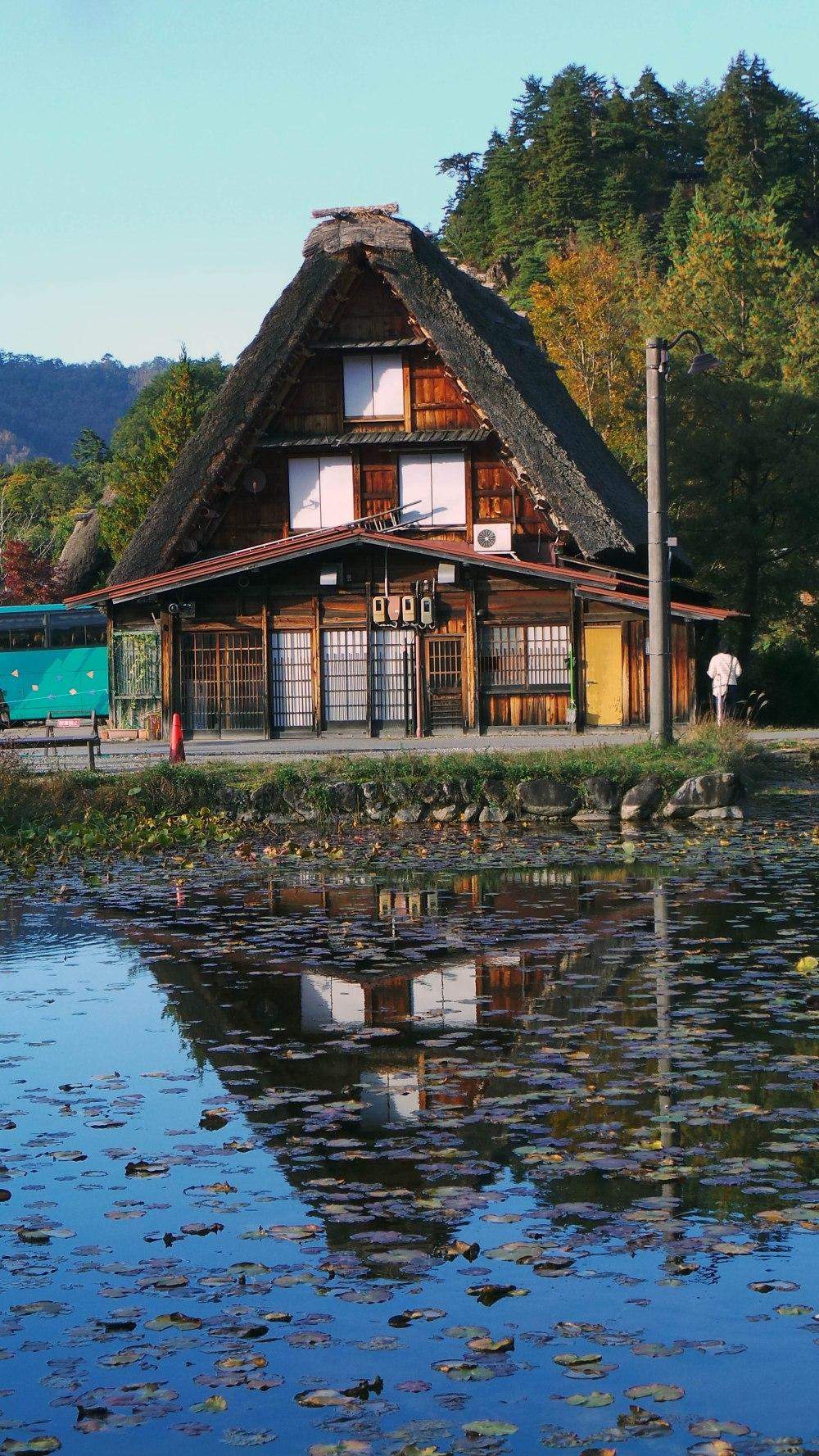 Maison Gasshō-zukuridans le village de Shirakawago, Japon